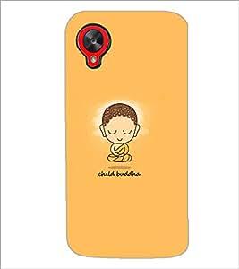 PrintDhaba Child Buddha D-5941 Back Case Cover for LG GOOGLE NEXUS 5 (Multi-Coloured)