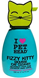 Pet Head Fizzy Kitty Strawberry Lemonade Mousse Cat Cleaner, 6.7 Ounce