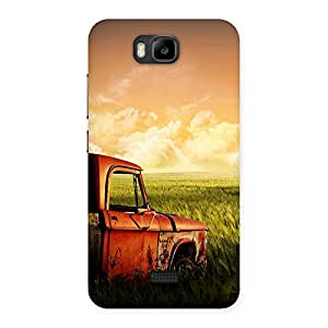 Ajay Enterprises Half Car Red Back Case Cover for Honor Bee