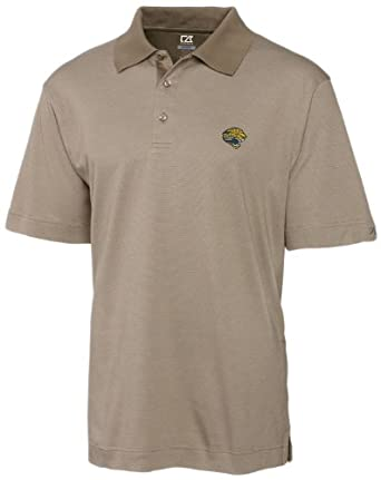 NFL Jacksonville Jaguars Mens DryTec Resolute Polo Knit Short Sleeve Top by Cutter & Buck