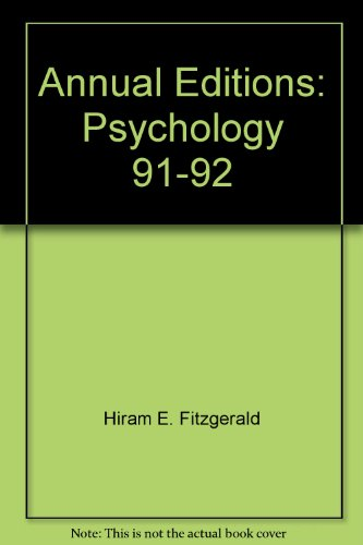 Annual Editions: Psychology, 91-92
