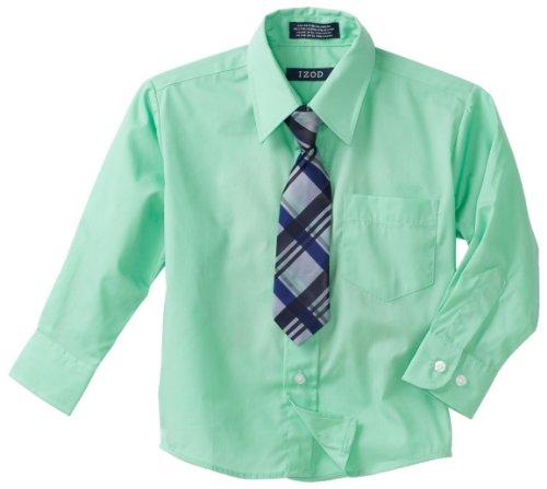 Izod Kids Big Boys 39 Long Sleeve Broadcloth Shirt And Tie
