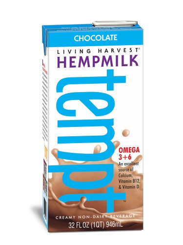 Living Harvest Hempmilk, Chocolate, 32-Ounce Aseptic Containers (Pack Of 6)