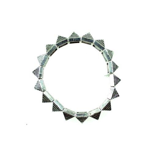 PYRAMID BRACELET Cupcake Cult Alternative Emo Punk Goth Osiris Fashion - One Size - Silver
