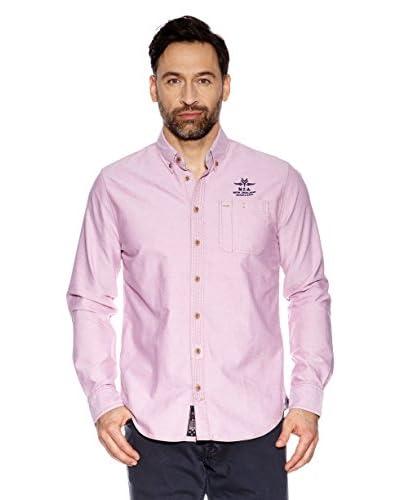 Nza New Zealand Auckland Camicia Uomo [Rosa]