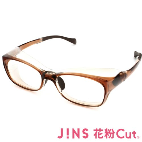 【JINS 花粉Cut(R)】花粉最大98%カット!異物からスタイリッシュに眼を守るメガネ ウエリントン(度なし)BROWN