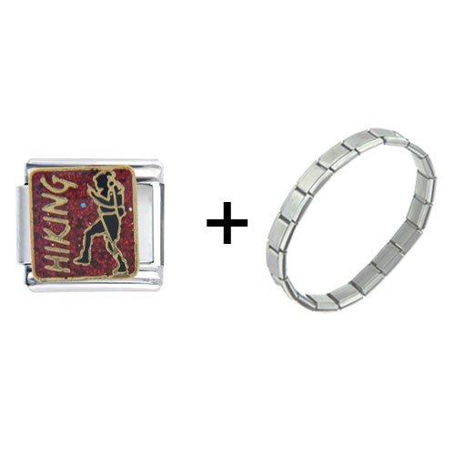 Hiking Jewelry Italian Charm Bracelet Gift Center