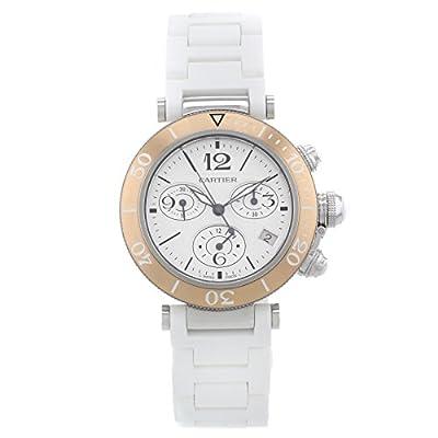 Cartier Pasha Seatimer W3140004 Steel & Gold Quartz Ladies Watch
