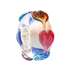 Beads Hunter Colorful Love Goes Around Murano Glass Bead Charm Fit Pandora Bracelets