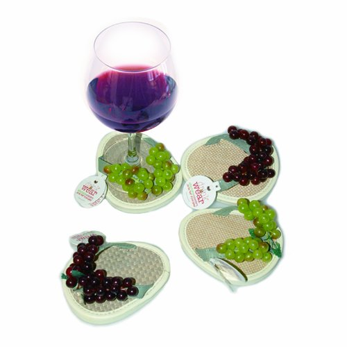 Drinkwear, Flip Flop Coasters, Set of 4 (Crush)