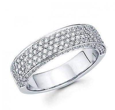 2.00 ct Ladies Round Cut Diamond Wedding Band in 18 kt White Gold