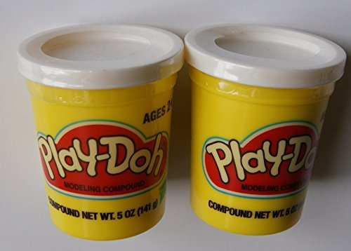 Play-doh White - Set of Two Single Cans (5 Oz.) - 1