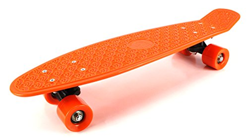 Find Discount Retro Wave Cruiser Complete 22 Banana Skateboard (Orange)