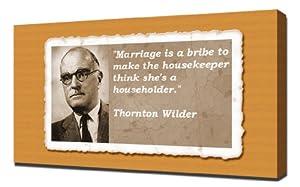 Thornton Wilder Quotes 2 - Canvas Art Print