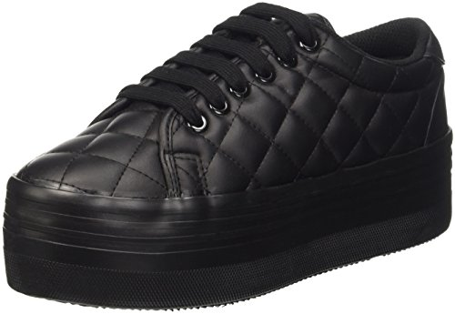 Jeffrey Campbell Zomg Quilted, Scarpe da Cheerleader Donna, Nero (Leather Black), 38 EU