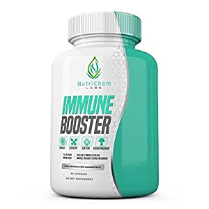 NutriChem Labs IMMUNE BOOSTER - Premium Immune System Support - Build and Strengthen your Body's Natural Defense Mechanisms - 60 Veggie Capsule w/ Bioperine®