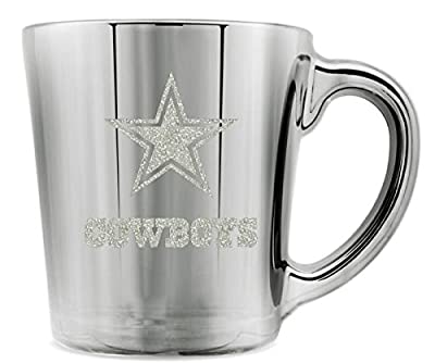 NFL Dallas Cowboys Crystal Glacier Glass Mug