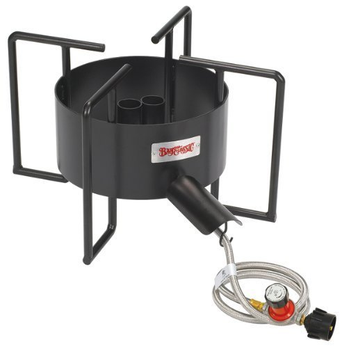 Bayou Classic SP40 22-Inch Double Jet Cooker with Hose Guard by Bayou Classic