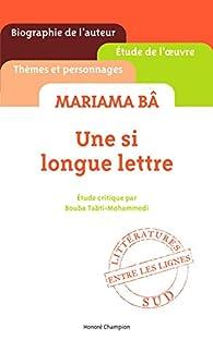 dissertation de mariama ba Mariama bâ senegalese writer mariama ba École normale de rufisque 0 references glwiki mariama bâ htwiki mariama ba.
