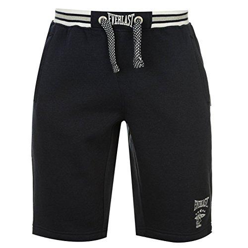 Everlast-Pantaloncini da uomo in pile pantaloni pantaloni sportivi Casual Abbigliamento Navy M