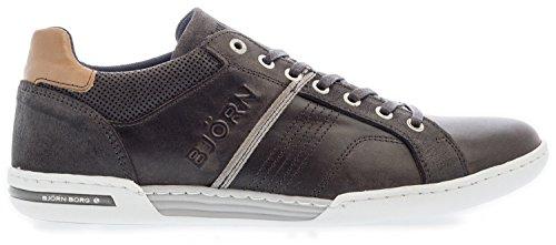 bjorn-borg-schnurschuh-mit-seitlichen-streifen-und-weisser-sohle-dark-grey-43