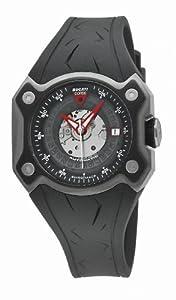 Ducati WATCHES DESMO 3H AUTO TIT CASE TIT IP BLACK BEZ CW0018 - Reloj de caballero automático, correa de goma color negro
