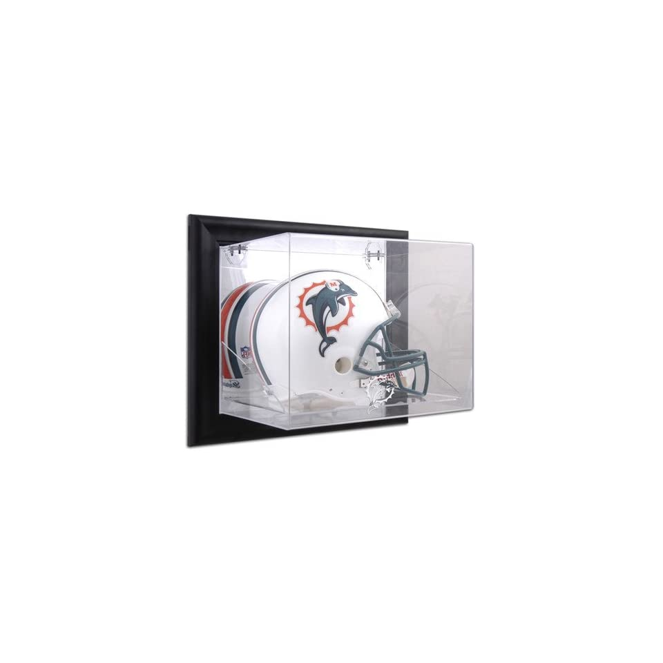45d190b4 Memories Black Framed NFL Team Logo Wall Mounted Helmet Display Case ...