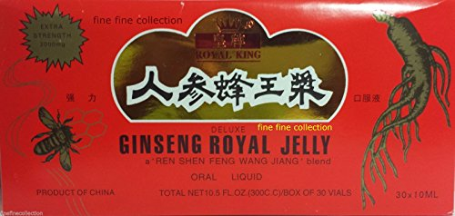 GINSENG ROYAL JELLY EXTRACT (30 Vials per box) 5 BOXES (5x) (Royal Jelly Vials compare prices)