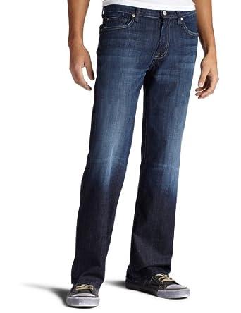 7 For All Mankind Men's Austyn Relaxed Straight Leg Jean in Los Angeles Dark, Los Angeles Dark, 28x32
