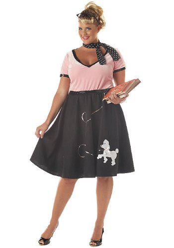 Plus Size 50's Sweetheart Costume - Womens 2XL (18-20)