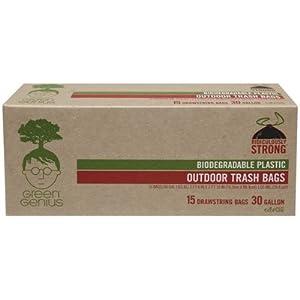 Amazon Com Green Genius Biodegradable Large Trash Bags