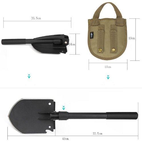 Free Soldier Outdoor Multi-function Folding Shovel Garden Spade (S)