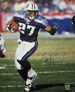 Eddie George Autographed Hand Signed Tennessee Titans 16X20 Photo- Steiner Hologram by Hall of Fame Memorabilia
