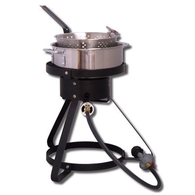King Kooker 1645 16-Inch Bolt Together Outdoor Propane Cooker Package with Stainless Steel Fry