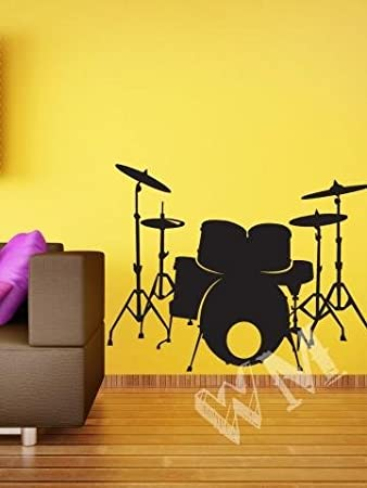 Buy WALLMANTRA The Drum Set Wall Decal Wall Sticker  Size Sx - Wall decals india