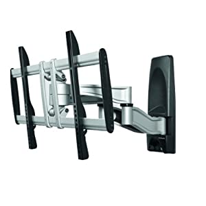 clicktronic 52664 gb full motion wall mount for up to 65. Black Bedroom Furniture Sets. Home Design Ideas