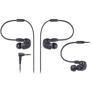 audio-technica デュアル・シンフォニックドライバーインナーイヤーモニターヘッドホン ブラック ATH-IM50 BK
