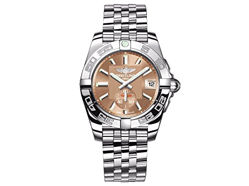 Breitling Galactic 36 Women's Automatic Watch with Brown Dial Analogue Display and Silver Stainless Steel Bracelet A3733012/Q582/376A