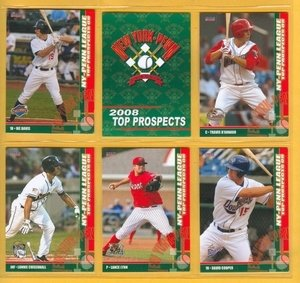 2008 NY Penn League Top Prospects Mets Team Set BROOKLYN CYCLONES Ike Davis 2 Cards... by Choice