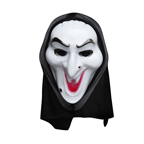[Costume Witch Wicked Laugh Mask Costume Mask Halloween Mask] (Smiley Horror Mask)