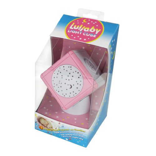 Baby Soother - Lullaby Light Cube Portable Musical Night Light Soother And Star Projector With Touch Sensors - (Pink)