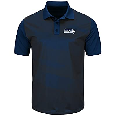 "Seattle Seahawks Majestic NFL ""Club Seat"" Men's Short Sleeve Polo Shirt"