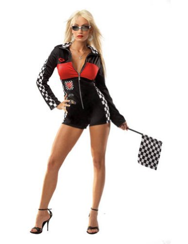 Adult-Costume Racer Girl Sexy One Size Halloween Costume - Most Adults