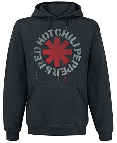 Red Hot Chili Peppers Stencil Felpa con cappuccio nero L