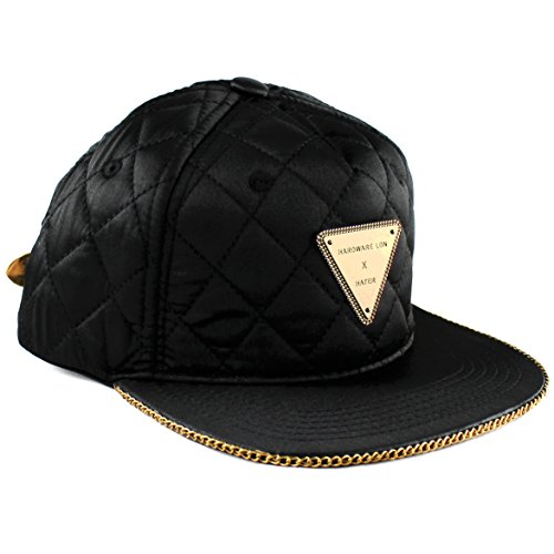 Hater Quilted Gold Chain Snapback Hat b61178413db