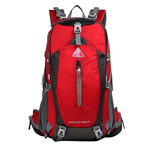 Alpinisme sac / sac à bandoulière / grande capacité imperméable randonnée en plein air sac de sport sac à dos / loisirs / Voyage à dos de camping-rouge 40L