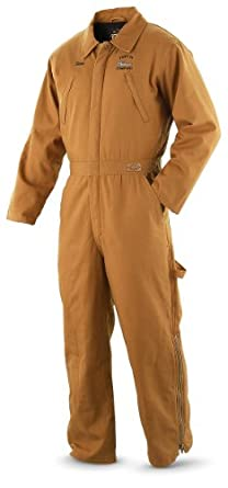 Guide Gear Thinsulate Insulated Coveralls Brown Duck, BROWN DUCK, MED LONG