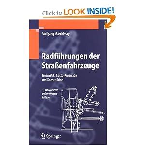 Downloads Radfuhrungen der Stra?enfahrzeuge: Kinematik, Elasto-Kinematik und Konstruktion (German Edition)