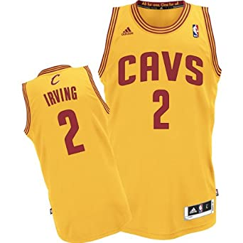 Kyrie Irving Cleveland Cavaliers Yellow Alternate NBA Youth Revolution 30 Swingman... by adidas