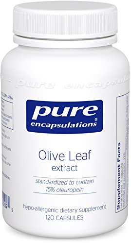 Pure Encapsulations - Olive Leaf extract - Hypoallergenic Supplement Supports Immune System and Healthy Intestinal Environment* - 120 Capsules (Pure Olive Leaf Extract compare prices)